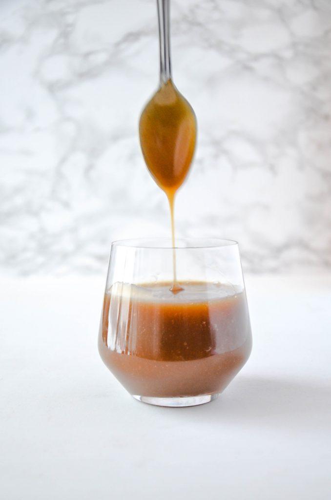 Easy vegan sea salt caramel sauce