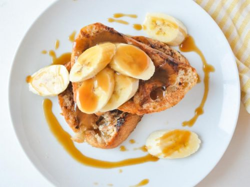 Banana and Caramel French Toast with Cannabis // The Loud Bowl