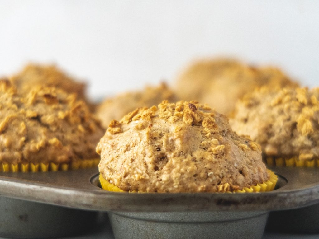 maple and oats vegan muffins