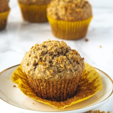 maple and oats vegan muffins unwrapped