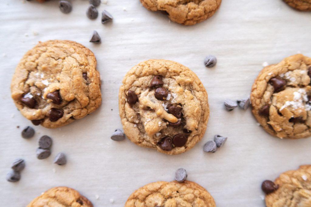 freshly baked cannabis cookies