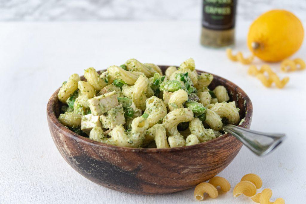 vegan pesto pasta salad